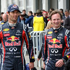 GEPA-15051134130 - SPIELBERG,AUSTRIA,15.MAY.11 - MOTORSPORT, FORMULA 1 - Open House Day Red Bull Ring, project Spielberg. Image shows Mark Webber (AUS/ Red Bull Racing) and team principal Christian Horner (Red Bull Racing). Photo: GEPA pictures/ Markus Oberlaender - For editorial use only. Image is free of charge.