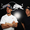 GEPA-08061199016 - FORMULA 1, MOTOGP - MotoGP Riders Visit Red Bull Factory. Image shows Andrea Dovizioso (ITA) and Casey Stoner (AUS/ Honda). Photo: Getty Images/ Bryn Lennon - For editorial use only. Image is free of charge