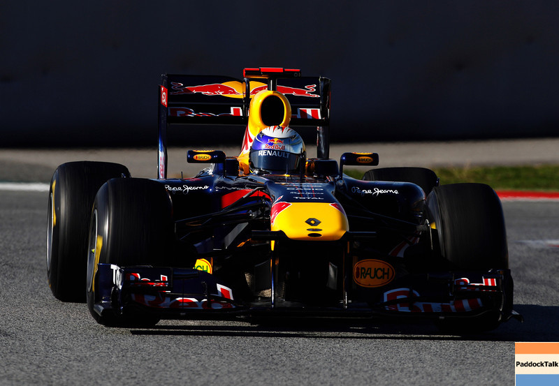 GEPA-19021199007 - FORMULA 1 - Testing in Barcelona, Circuit de Catalunya. Image shows Sebastian Vettel (GER/ Red Bull Racing). Photo: Mark Thompson/ Getty Images - For editorial use only. Image is free of charge