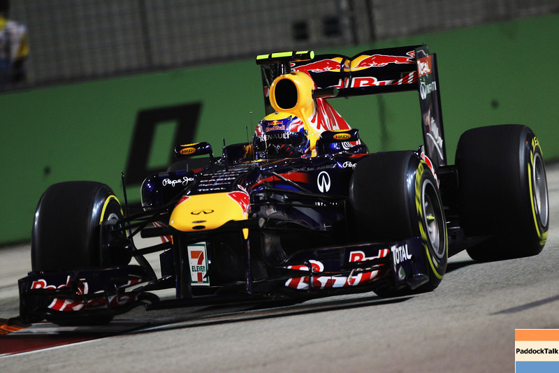 GEPA-24091199013 - FORMULA 1 - Grand Prix of Singapore. Image shows Mark Webber (AUS/ Red Bull Racing). Photo: Getty Images/ Mark Thompson - For editorial use only. Image is free of charge