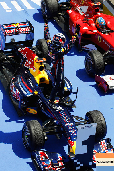 GEPA-26061199006 - FORMULA 1 - Grand Prix of Europe. Image shows Sebastian Vettel (GER/ Red Bull Racing). Photo: Mark Thompson/ Getty Images - For editorial use only. Image is free of charge