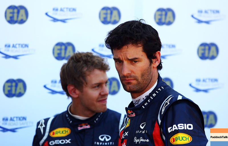GEPA-28051199009 - FORMULA 1 - Grand Prix of Monaco. Image shows Sebastian Vettel (GER) and Mark Webber (AUS/ Red Bull Racing). Photo: Vladimir Rys/ Getty Images - For editorial use only. Image is free of charge