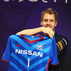 GEPA-10101199009 - FORMULA 1 - Grand Prix of Japan. Image shows Sebastian Vettel (GER/ Red Bull Racing)  with a Yokohama F. Marinos football shirt. Photo: Getty Images/ Clive Mason - For editorial use only. Image is free of charge