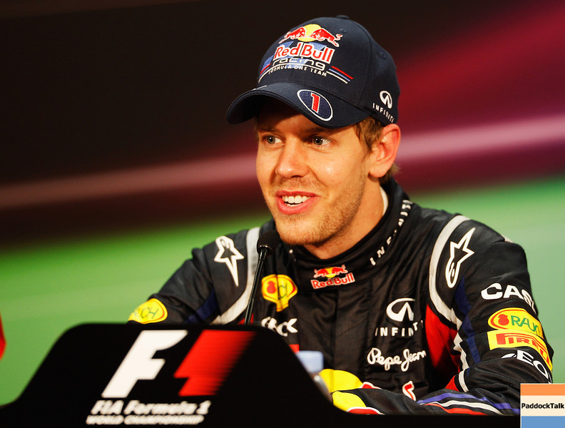 GEPA-29051199039 - FORMULA 1 - Grand Prix of Monaco, press conference. Image shows Sebastian Vettel (GER/ Red Bull Racing). Photo: Mark Thompson/ Getty Images - For editorial use only. Image is free of charge