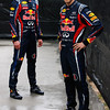 GEPA-24031199009 - FORMULA 1 - Grand Prix of Australia, preview, photo shoot. Image shows Mark Webber (AUS) and Sebastian Vettel (GER/ Red Bull Racing). Photo: Getty Images/ Mark Thompson - For editorial use only. Image is free of charge