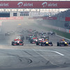 GEPA-30101199004 - FORMULA 1 - Grand Prix of India, Buddh-International-Circuit. Image shows Mark Webber (AUS/ Red Bull Racing) and Sebastian Vettel (GER/ Red Bull Racing) at the start. Photo: Getty Images/ Mark Thompson - For editorial use only. Image is free of charge