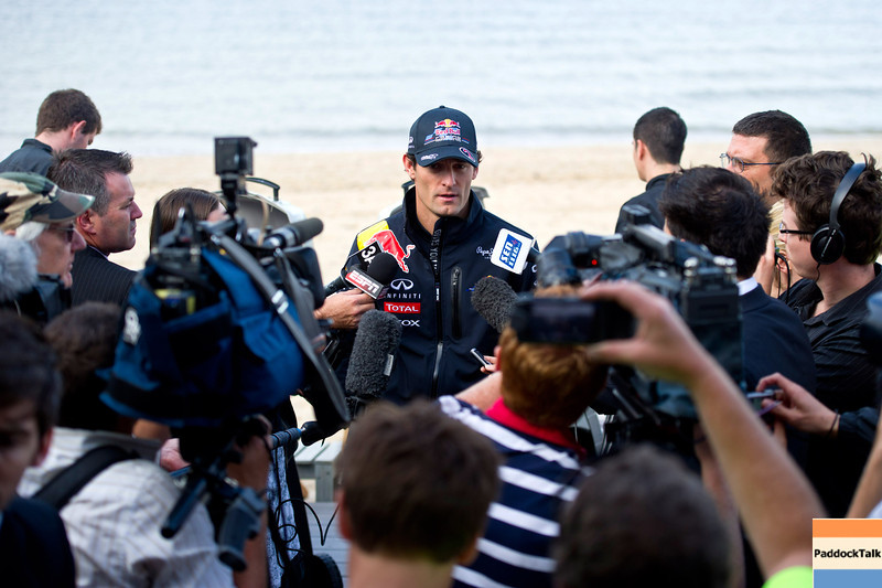 GEPA-23031199000 - FORMULA 1 - Grand Prix of Australia, preview, press talk at St. Kilda Beach. Image shows Mark Webber (AUS/ Red Bull Racing). Photo: Getty Images/ Mark Watson - For editorial use only. Image is free of charge
