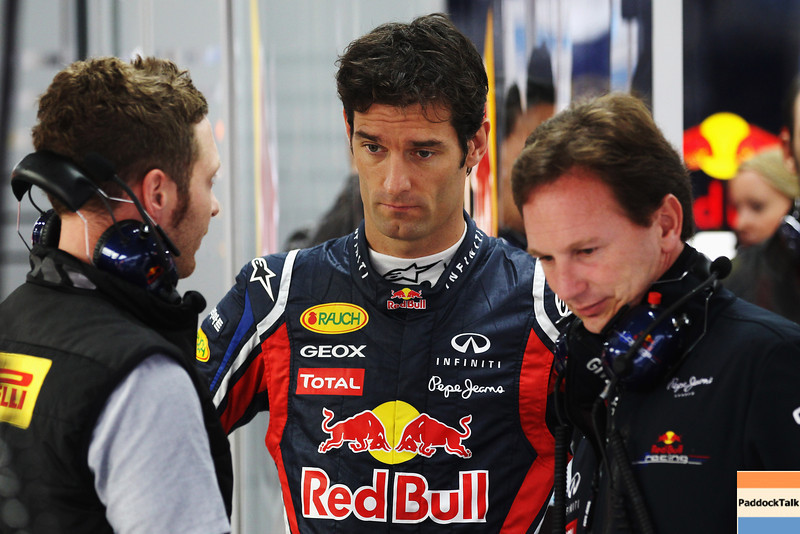 GEPA-14101199004 - FORMULA 1 - Grand Prix of South Korea, Korean International Circuit. Image shows Mark Webber (AUS) und Teamchef Christian Horner (Red Bull Racing). Photo: Getty Images/ Clive Rose - For editorial use only. Image is free of charge