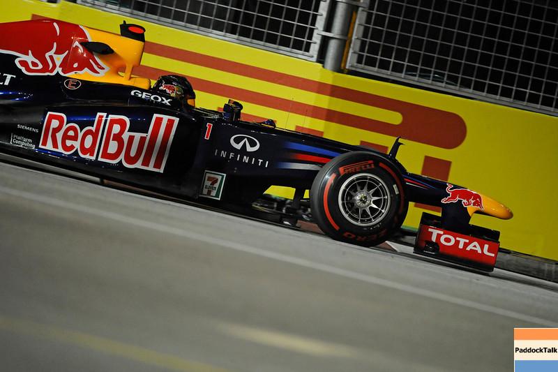 SINGAPORE GRAND PRIX F1/2012 - SINGAPORE 21/09/2012 - SEBASTIAN VETTEL