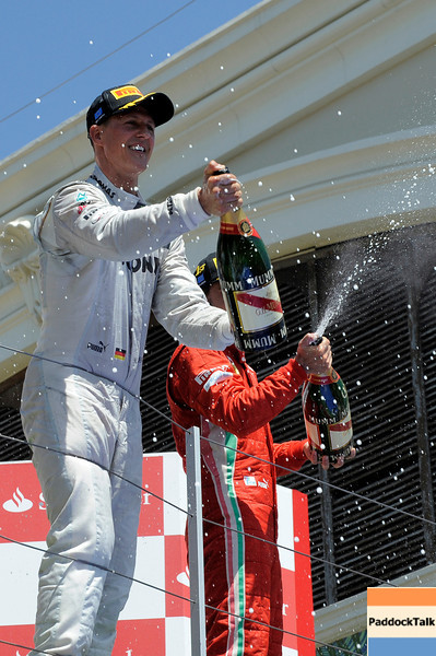 VALENCIA (EUROPA) 24/06/2012 - MICHAEL SCHUMACHER SECOND PLACE.