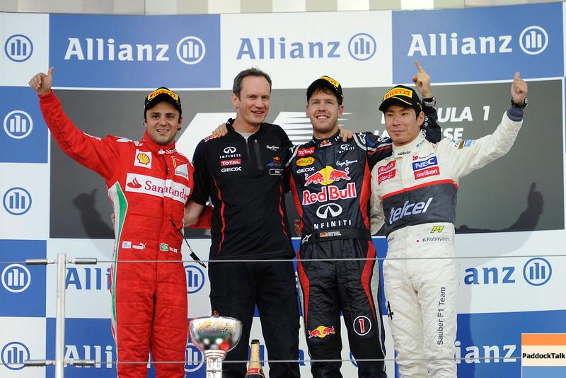 JAPANESE GRAND PRIX F1/2012 - SUZUKA 07/10/2012 - PODIUM