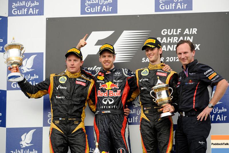 BAHRAIN GRAND PRIX (SAKHIR) 22/04/2012 - SEBASTIAN VETTEL WINS THE RACE IN BAHRAIN