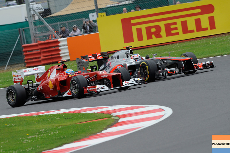 GREAT BRITAIN GRAND PRIX F1/2012 - SILVERSTONE 07/07/2012 - FERNANDO ALONSO - JENSON BUTTON
