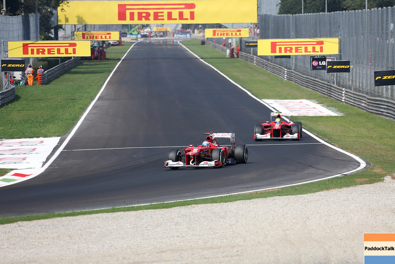 ITALIAN GRAND PRIX F1/2012 - MONZA 08/09/2012 - FERNANDO ALONSO AND FELIPE MASSA.