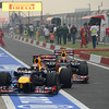 INDIAN GRAND PRIX F1/2012 - GREATER NOIDA 28/10/2012 - SEBASTIAN VETTEL - MARK WEBBER