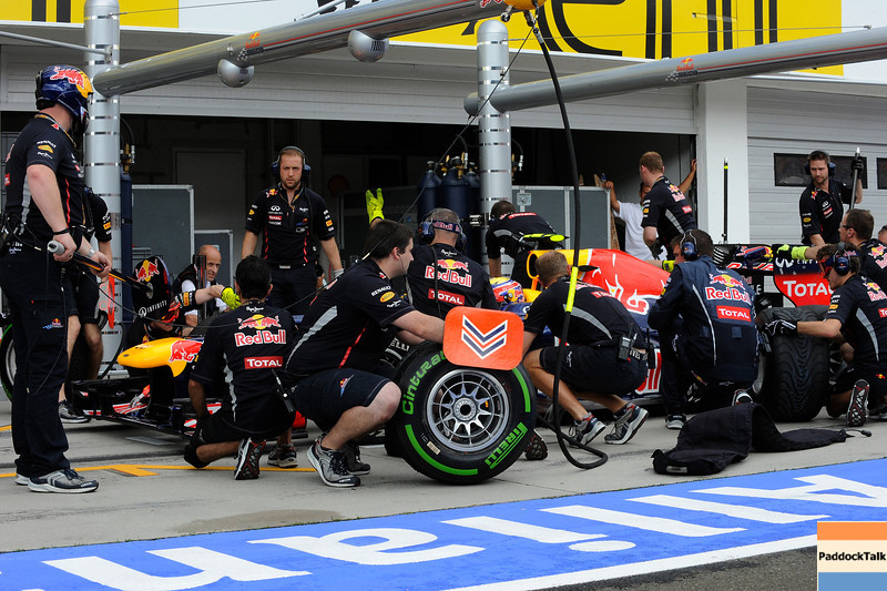 HUNGARIAN GRAND PRIX F1/2012 - BUDAPEST 27/07/2012 - RED BUL PIT STOP SIMULATION
