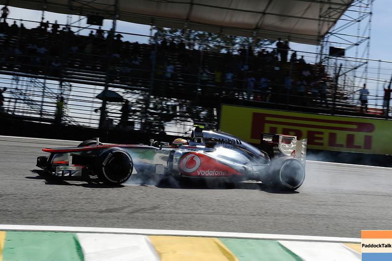 BRAZILIAN GRAND PRIX F1/2012 - INTERLAGOS 25/11/2012 - LEWIS HAMILTON