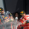 GREAT BRITAIN GRAND PRIX F1/2012 - SILVERSTONE 08/07/2012 - PODIUM - MARK WEBBER / FERNANDO ALONSO
