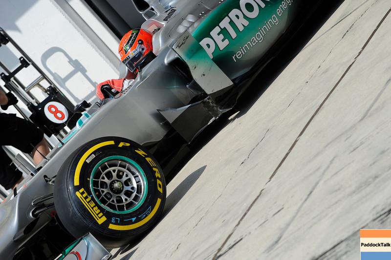 HUNGARIAN GRAND PRIX F1/2012 - BUDAPEST 28/07/2012 - MICHAEL SCHUMACHER