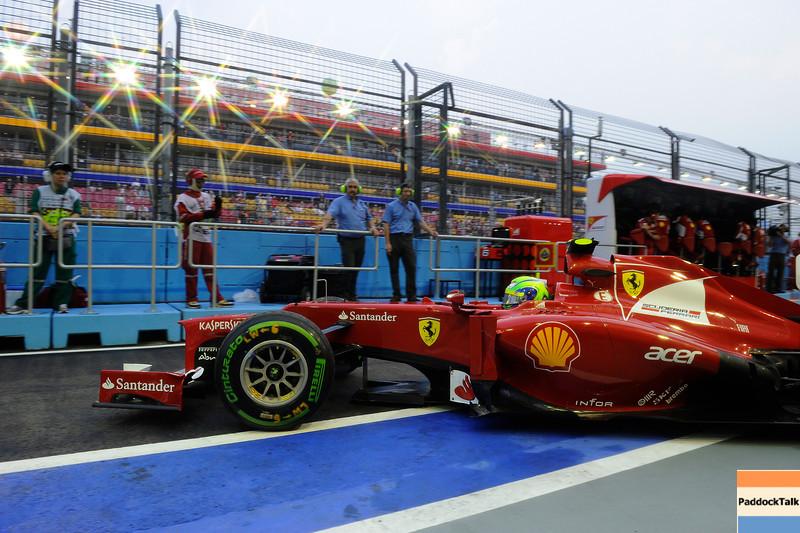SINGAPORE GRAND PRIX F1/2012 - SINGAPORE - 21/09/2012 - FELIPE MASSA