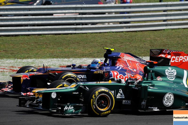 HUNGARIAN GRAND PRIX F1/2012 - BUDAPEST 29/07/2012 - JEAN-ERIC VERGNE - HEIKKI KOVALAINEN