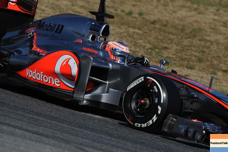 BARCELLONA (SPAIN) 24/02/2012 - TEST F1/2012 - JENSON BUTTON