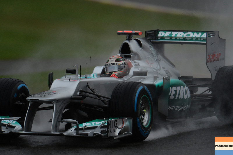 BELGIAN GRAND PRIX F1/2012 - SPA FRANCORCHAMPS 31/08/2012 - MICHAEL SCHUMACHER
