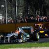 AUSTRALIAN GRAND PRIX F1/2012 - MELBOURNE 18/03/2012 - MICHAEL SCHUMACHER - SEBASTIAN VETTEL