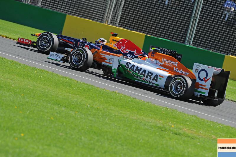 AUSTRALIAN GRAND PRIX F1/2012 - MELBOURNE 17/03/2012 - SEBASTIAN VETTEL - NICO HULKENBERG