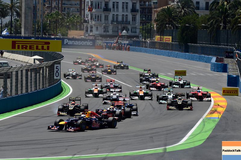 VALENCIA (EUROPA) 24/06/2012 - RACE STARTING