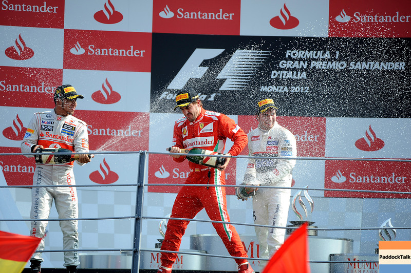 ITALIAN GRAND PRIX F1/2012 - MONZA 09/09/2012 - LEWIS HAMILTON, SERGIO PEREZ AND FERNANDO ALONSO