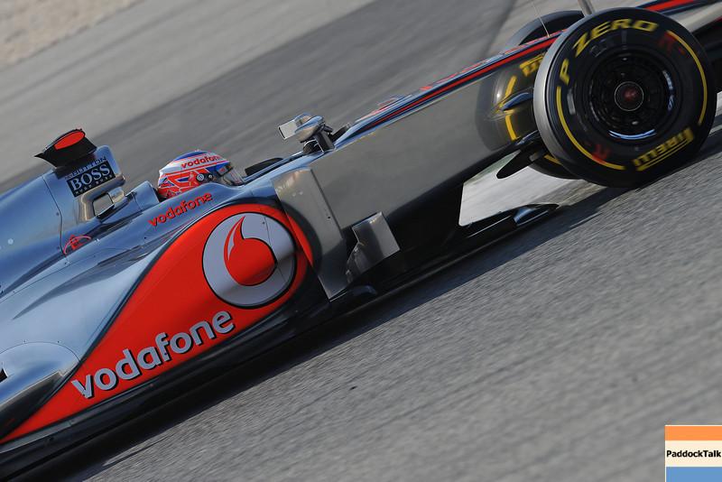 BARCELLONA (SPAIN) 02/03/2012 - TEST F1/2012 - JENSON BUTTON
