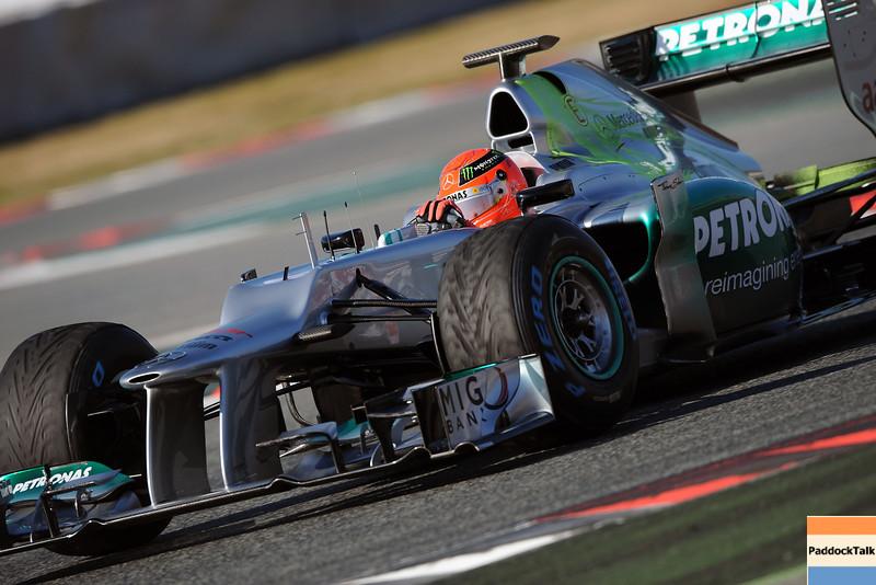 BARCELLONA (SPAIN) 22/02/2012 - TEST F1/2012 - MICHAEL SCHUMACHER