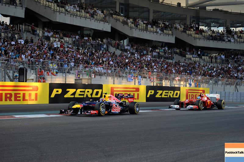 ABU DHABI GRAND PRIX F1/2012 - YAS MARINA 04/11/2012 - MARK WEBBER AND FERNANDO ALONSO