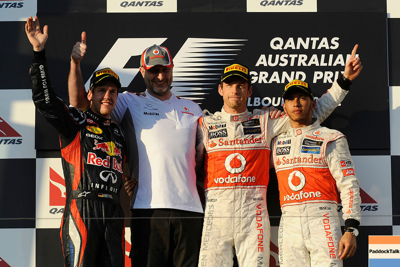 AUSTRALIAN GRAND PRIX F1/2012 - MELBOURNE 18/03/2012 - SEBASTIAN VETTEL - JENSON BUTTON - LEWIS HAMILTON