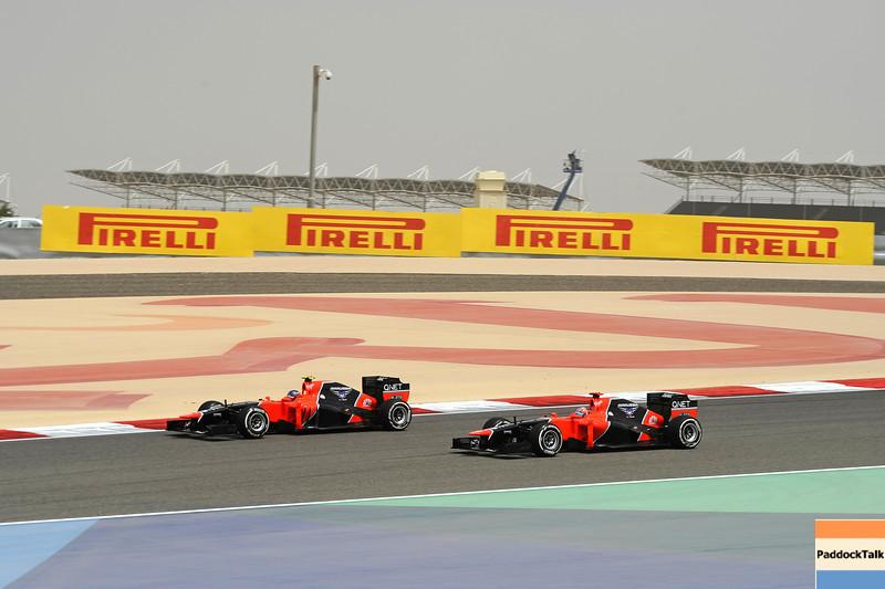 BAHRAIN GRAND PRIX F1/2012 - SAKHIR 20/04/2012 - TIMO GLOCK - CHARLES PIC