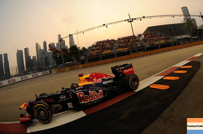 SINGAPORE GRAND PRIX F1/2012 - SINGAPORE 22/09/2012 - SEBASTIAN VETTEL