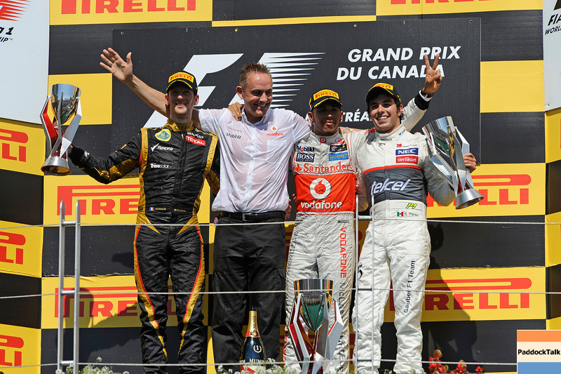 CANADIAN GRAND PRIX F1/2012 - MONTREAL 10/06/2012 - ROMAIN GROSJEAN - MARTIN WHITMARSH - LEWIS HAMILTON - SERGIO PEREZ