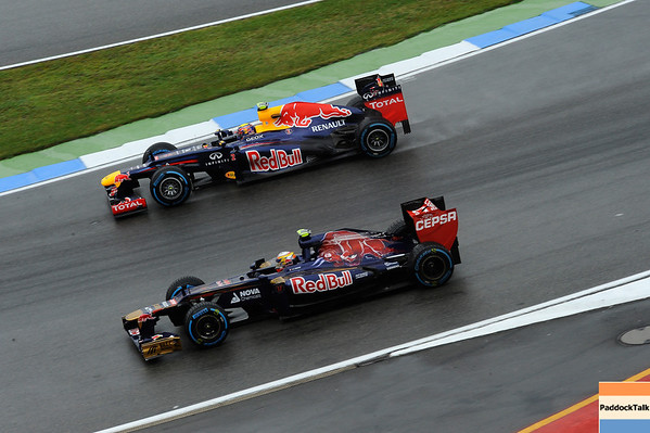 GERMAN GRAND PRIX F1/2012 - HOCKENHEIM 20/07/2012 - MARK WEBBER REDBULL AND JEAN ERIC VERGNE TORO ROSSO