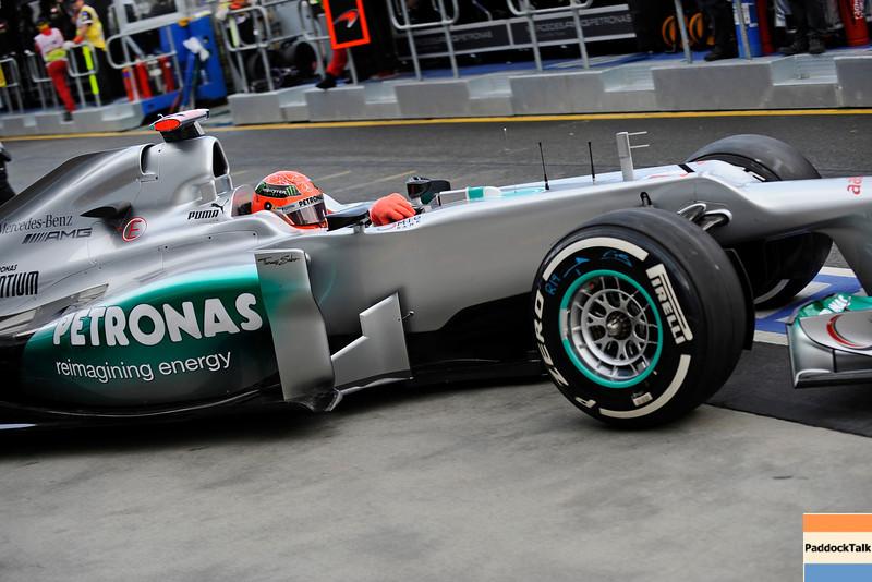 AUSTRALIAN GRAND PRIX F1/2012 - MELBOURNE 16/03/2012 - MICHAEL SCHUMACHER