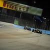 SINGAPORE GRAND PRIX F1/2012 - SINGAPORE 22/09/2012 - MARK WEBBER AND BRUNO SENNA