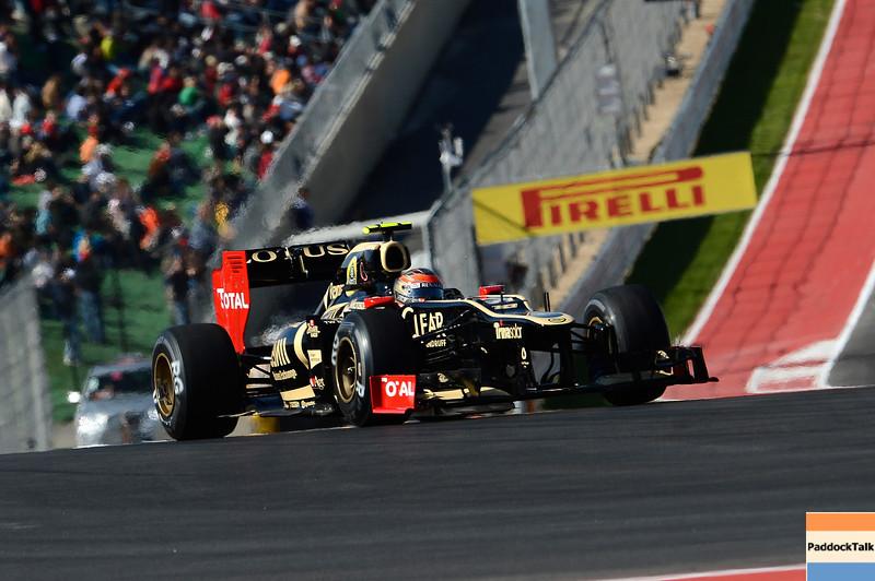 USA GRAND PRIX F1/2012 - AUSTIN 17/11/2012 - ROMAIN GROSJEAN
