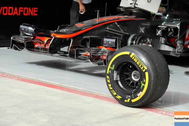 BAHRAIN GRAND PRIX F1/2012 - SAKHIR 20/04/2012 - MCLAREN USED TYRE
