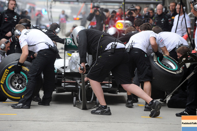 CHINESE GRAND PRIX F1/2012 - SHANGHAI 13/04/2012 - MERCEDES PIT-STOP PRACTICE