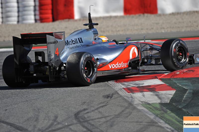 BARCELLONA (SPAIN) 22/02/2012 - TEST F1/2012 - LEWIS HAMILTON Courtesy of Pirelli