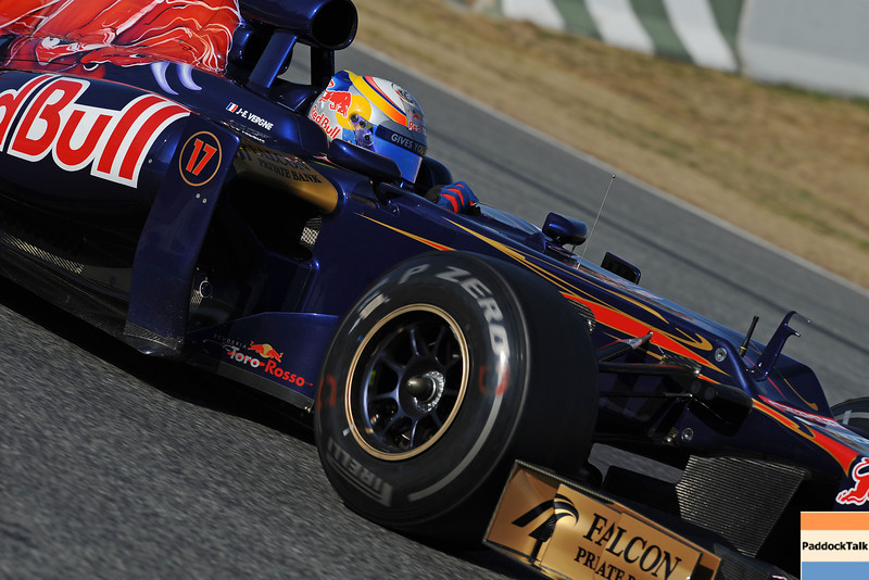 BARCELLONA (SPAIN) 02/03/2012 - TEST F1/2012 - JEAN-ERIC VERGNE Courtesy of Pirelli