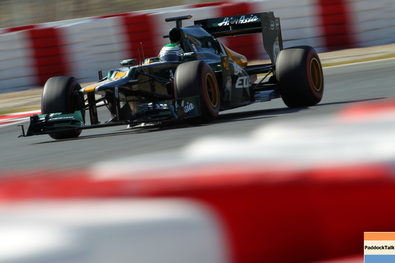 2012 Formula One Barcelona Test Day Two<br /> Circuit de Catalunya, Barcelona, Spain<br /> 2nd March 2012<br /> Heikki Kovalainen, Caterham F1 Team. Action. <br /> World Copyright:Lorenzo Bellanca/LAT Photographic<br /> ref: Digital Image GU5G0936<br /> <br /> Courtesy of Caterham