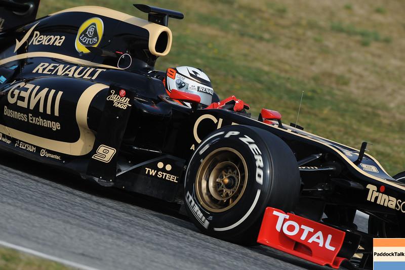 BARCELLONA (SPAIN) 03/03/2012 - TEST F1/2012 - KIMI RAIKKONEN Courtesy of Pirelli