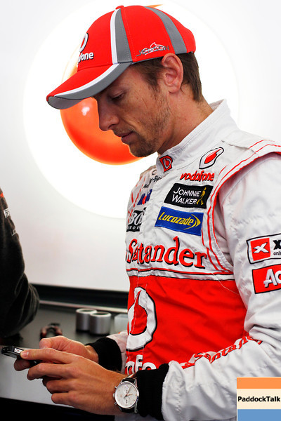 Jenson Button Testing Courtesy of McLaren