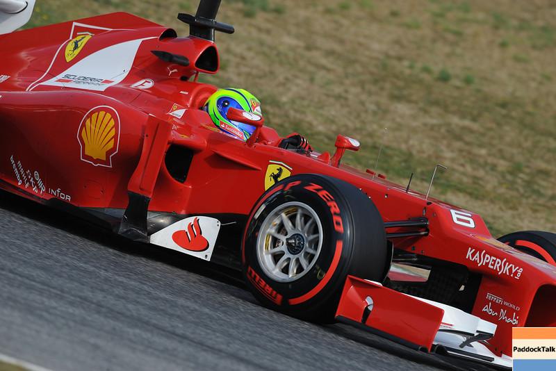 BARCELLONA (SPAIN) 03/03/2012 - TEST F1/2012 - FELIPE MASSA Courtesy of Pirelli